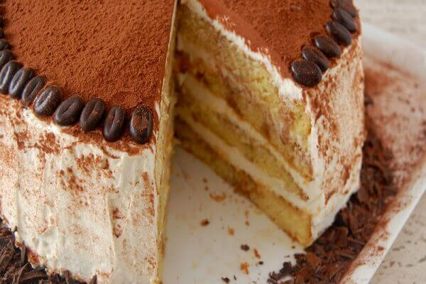 Tiramisu is a blend of the aroma of espresso, light wine