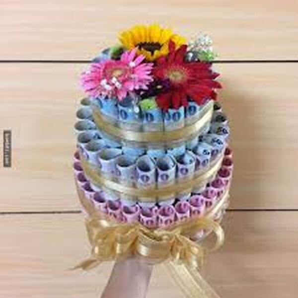 Picture the world's most beautiful birthday bouquet, unique meaning in money, dollars