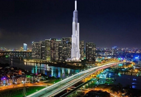 The Landmark 81 is a skyscraper in the Vinhomes Tan Cang project complex, a project with a total investment of VND 40,000 billion.
