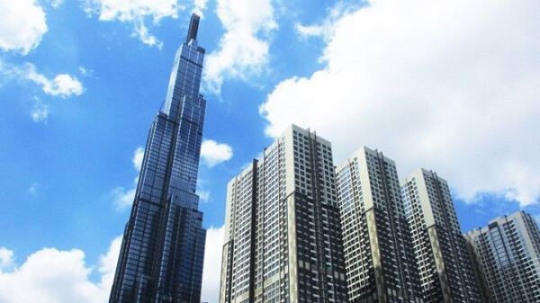 The Landmark 81 Tower, with an expected elevation of 461 m, including 81 floors built at the central location of Vinhomes Central Park urban area