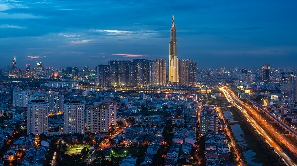 Landmark building 81 addresses, where fire, how tall, when open, ho chi minh, skyscrapercity