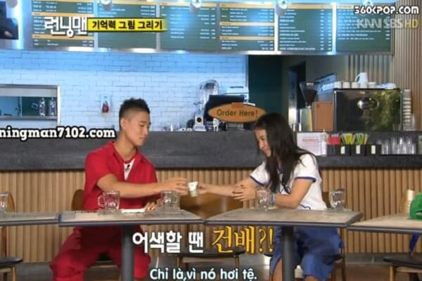 Episode 30 Running man Monday Couple with new hairstyle.