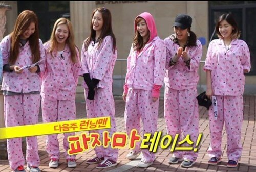 SNSD is comfortable in pajamas - Running man episodes with idols