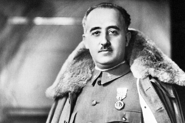 Story of Francisco Franco political, military activist, fascist boss of Spain