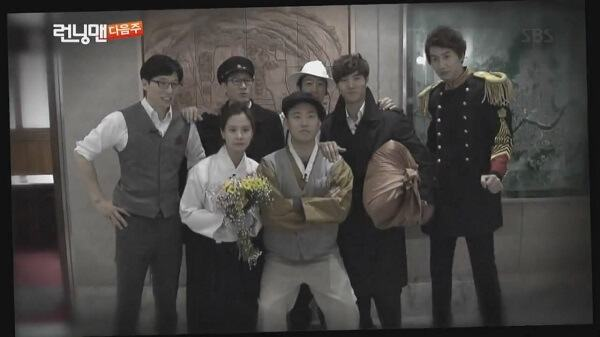 Complete re-birth (Episode 130) - practice Running man wearing traditional Korean clothes