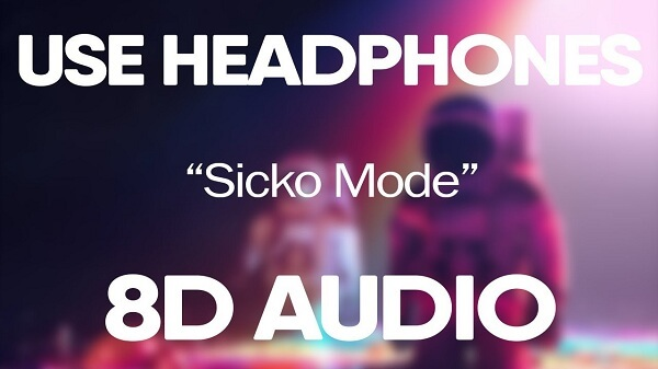 8D Audio means (Eight - Directional), the sound is adjusted to play from 8 directions.