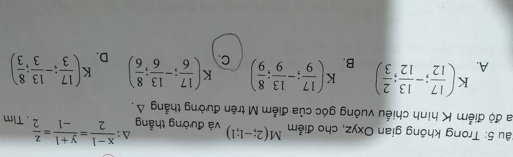 trong-khong-gian-oyz-cho-diem-m-2-1-1-va-duong-thang-delta-1-2-y-1-1-z-2-tim-toa-do-dieem-k-hinh