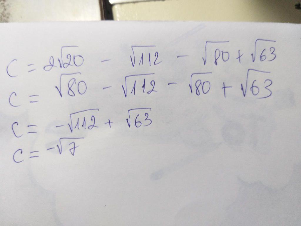 c-2-sqrt-20-sqrt-112-sqrt-80-sqrt-63-tinh-c