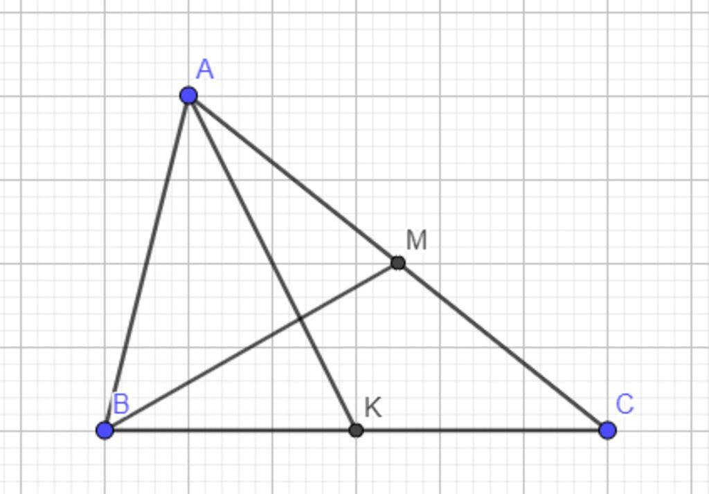 cho-ak-va-bm-la-hai-trung-tuyen-cua-tam-giac-abc-a-phan-tich-cac-vector-ab-theo-vector-ak-va-bm