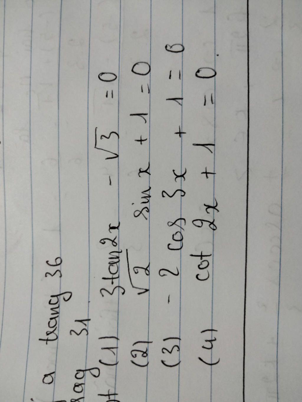 giai-phuong-trinh-a-3tan2-3-0-b-2sin-1-0-c-2cos3-1-0-d-cot2-1-0