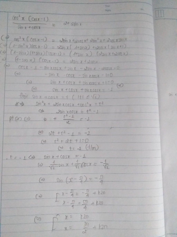giai-phuong-trinh-luong-giac-frac-cos-2-cos-1-sin-cos-2-2sin